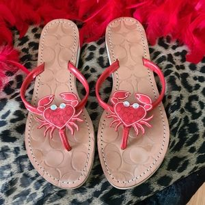 NWOT Rare Limited Edition Crab Coach Sandals